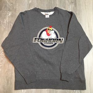2000 foghorn leghorn Warner bro's logo sweatshirt